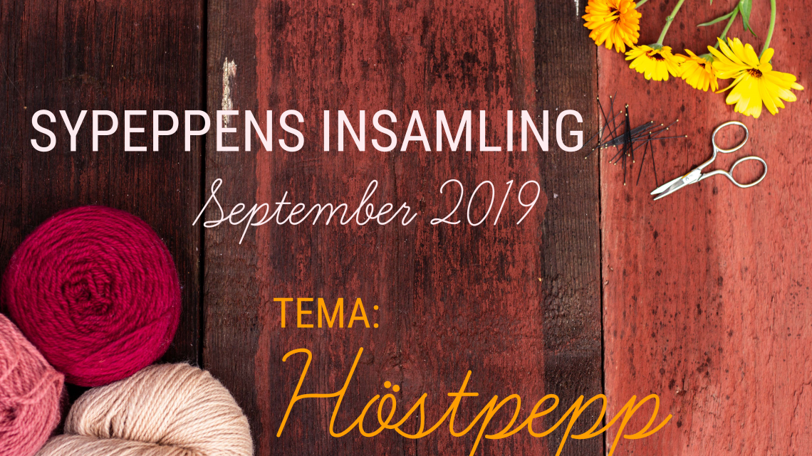 Sypeppens insamling: September 2019